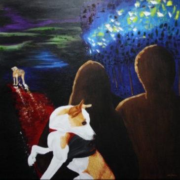 La obra de Revolution, titulada: Gritos se queda sin adjudicación. (Donación directa a la Sociedad Protectora de Animales y Plantas de Málaga).