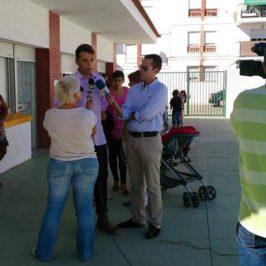 Recuerdo, días finales de preparación sobre la restauración de los murales del colegio Zona sur de Vélez-Málaga. (Jurado Lorca) Original: 1/10/2013